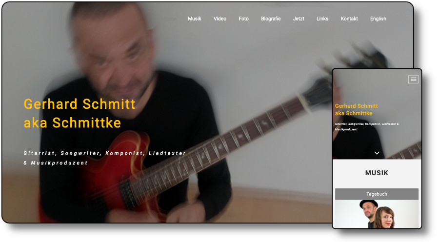 Demoansicht der Website schmittke.de Desktop und Mobil